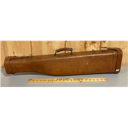 FELT LINED LEATHER SHOTGUN CASE