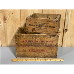 LOT OF 2 CIL AMMO CRATES