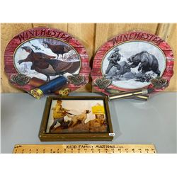 LOT OF 3 WINCHESTER WALL PLAQUES, 2 ARE NEW
