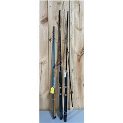 LOT OF 3 TROLLING/SPINNING RODS