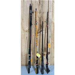 LOT OF 5 BAIT CASTING RODS