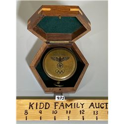 1936 OLYMPICS COMPASS IN PRESENTATION CASE