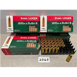 AMMO: 234 X S & B 9MM LUGER