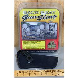 BACK SEAT GUN SLING - NEW & CANVAS HOLSTER