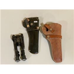 BIPOD & LEATHER HOLSTERS