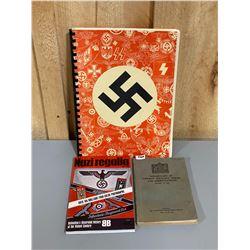 ASSMANN CATALOG & 1943 GERMAN VOCABULARY BOOK & NAZI REGALIA