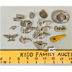 LOT OF 'WING' PINS - SOME STERLING