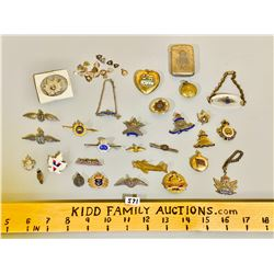 LOT OF CND WWI & WWII SWEETHEART JEWELRY