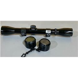 BUSHNELL BANNER 4 X SCOPE W/ RINGS & LENSE COVERS - CLEAR