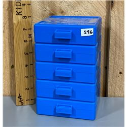 LOT OF 5 DILLON 100 RDN 9 MM AMMO CASES