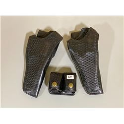 LOT OF 3 LEATHER HOLSTERS / POUCH
