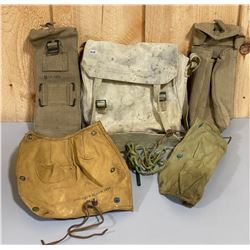LOT OF ENFIELD BREACH COVERS & PULL THRU & MILITARY ISSUE CANVAS