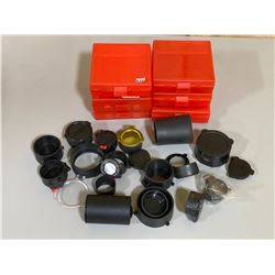 6 X 100 RND AMMO HOLDERS & QTY OF LENSE COVERS