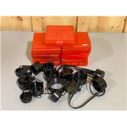 7 X 100 RND AMMO HOLDERS & QTY OF LENSE COVERS