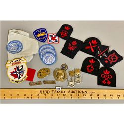 QTY OF MILITARY CREST & PINS