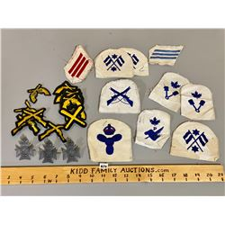 QTY OF MISC CREST & PINS