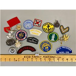 QTY OF MISC CND CREST & PINS