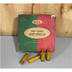 "APPROX 87 CIL 20 GA 2 1/2""  SHOT SHELLS IN VINTAGE BOX"