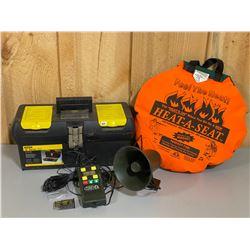 HOT SEAT & DIGITAL CALLER W/ STORAGE BOX