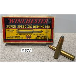 AMMO: 19 X WINCHESTER .30 REM  170 GR