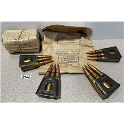 AMMO: 24 ROUNDS IN CLIPS UNKNOWN CAL