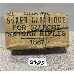AMMO: PACKAGE OF 10? 577 SNIDER BLANK CTGS