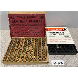 2 WINCHESTER PRIMER BOXES WITH CONTENTS