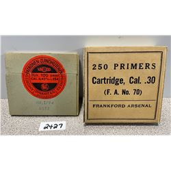 2 SEALED COLLECTIBLE PRIMER BOXES