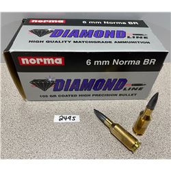 AMMO: 50 X 6MM BR NORMA 105GR
