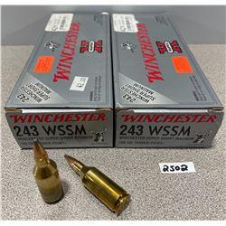 AMMO: 40 X 243 WINCHESTER WSSM 100GR