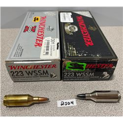 AMMO: 40 X WINCHESTER 223 WSSM 55GR
