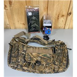 VIVITAR ACTION CAMERA & STAINLESS DECALS & AMMO BAG