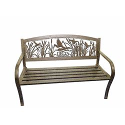 DELTA WATER FOWL IRON PARK BENCH