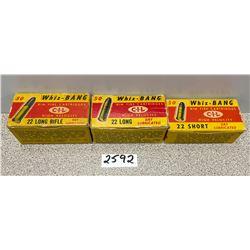 AMMO: APPROX 145 X WHIZ BANG 22 S L & LR