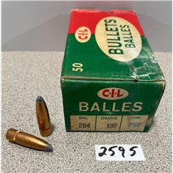 BULLETS: 50 X CIL .284CAL (7MM)