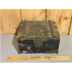 WOODEN MILITARY AMMO CRATE