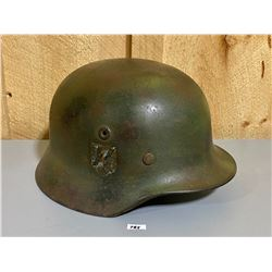 WW2 GERMAN SS DOUBLE DECAL ARMY HELMET