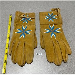 NATIVE LEATHER CRAFTED GLOVES - MENS