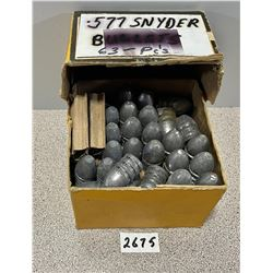 BULLETS: 63 X 577 SNIDER CAST LEAD