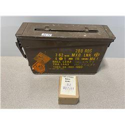 AMMO: 200 X MILITARY 7.62 X 51 BALL  IN STEEL BOX