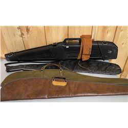 LOT OF GUN CASES - 1 HARD & 3 SOFT & 1 SOCK