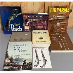 LOT OF 8 FIREARMS REFERENCE BOOKS