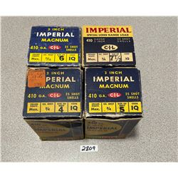 AMMO: 100 X IMPERIAL 410 3""