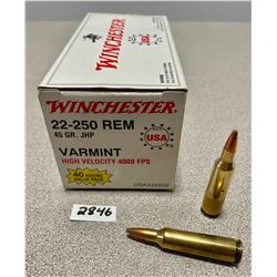 AMMO: 40 X WINCHESTER 22-250 45 GR