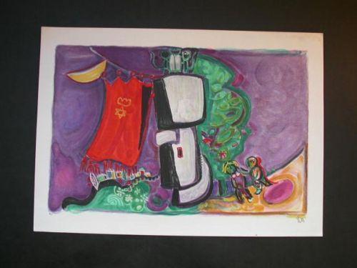 LEO ROTH Litho Israeli Art