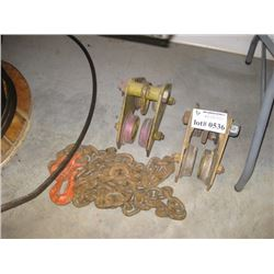 CHAIN AND YALE 1 TON ROLLERS