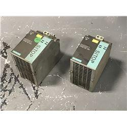 (2) SIEMENS 6EP1961-3BA00 POWER SUPPLY