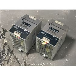 LOT OF SOLA SDN 10-24-100P POWER SUPPLY