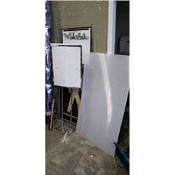 WHITEBOARD, SIGN HOLDER, PLEXI SHEETS