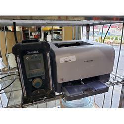 Makita shop radio and Samsung printer